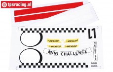 FG5185 Team Stickers MINI Cooper, Set