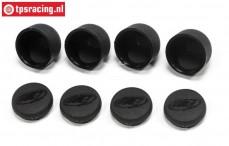 FG5437 FG Koplampen met kap zwart, 4 st.