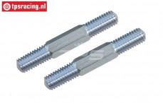 FG6076/01 Stalen Instelstang M8-L61 mm, 2 St.
