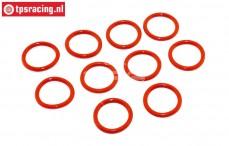 TPS6093/02 Schokdemper Siliconen O-ring Ø13-D2 mm, 10 st.