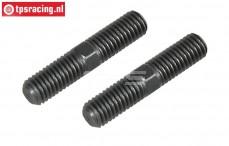 FG6100/04 Stalen Instelstang M8 L/R-L39 mm, 2 St.