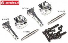 FG6103/05 Aluminium Stuurblokken 1/6-2WD Set