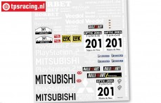 FG6217 Team Stickers Pajero Buggy, Set