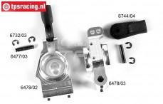 FG6478 Aluminium Wielblok achter verhoogd 2WD/4WD, Set