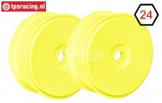 FG67216 1/6 Disk Velgen Ø130-B65 mm Geel, 2 St.
