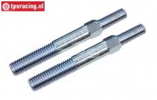 FG67267 Stalen Instelstang M8/M10 L/R-L39 mm, 2 St.