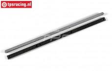 FG67271/02 Koolstof chassis Strippen, (L370-B14-H8,0 mm), Set