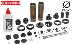 FG67330 Aluminium Schokdemper Ø24-L170 mm, set
