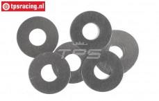 FG6744 Stalen Pas ring Ø8-Ø20-H0,1 mm, 10 St.
