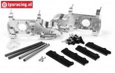 FG68410/05 Aluminium voor as behuizing, 1/6 4WD, Set