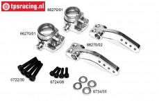 TPS1286 Aluminium Stuurblokken 4WD, Set