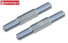 FG6076/01 Stalen Instelstang, (M8 L/R-L61 mm), 2 St.