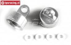 FG7201/02 Aluminium Schokdemper sluiting boven Ø17 mm, 2 St.