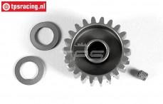 FG7430/22 Aluminium tandwiel 22T breed, (Ø10-B12 mm), 1 St.