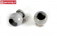 FG7475/02 Aluminium gewricht kogel met coating, 2 St.