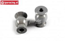 FG7475/06 Aluminium gewricht kogel met coating, 2 St.