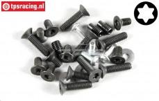 FG8494/01 Torx schroeven Aluminium differentieel, Set