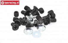 FG8494 Schroeven Aluminium differentieel, Set