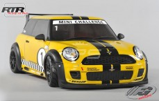 Mini Cooper Sports-Line 4WD-510 RTR, (Gespoten Kap Geel)