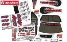 FG26155 Stickers FG Monster-Stadium-Street Truck 4WD, Set