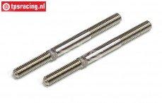 FG4531 Titanium Instelstang, (M6 L/R-L73 mm), 2 St.