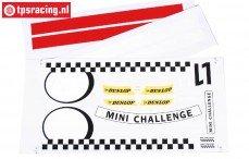FG5185 Team Stickers MINI Cooper, Set