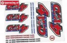 FG58155 Stickers FG 4WD, Set