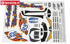 FG60155 Stickers Baja Buggy, Set