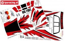 FG6195 Stickers, FG Monster Truck, Set