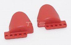 Schokdemper bescherming, (Rood kunststof), 2 st.
