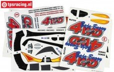 FG68155 Stickers FG Baja Buggy 4WD, Set