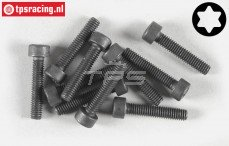 Torx normale kop (M4-L16 mm), (Staal), 10 St.