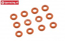 FG7093 Schokdemper Siliconen O-ring, Ø4-H2,0 mm, 12 St.