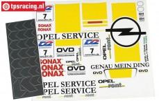 FG7263 Stickers Opel V8 opel Service, Set