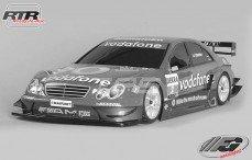 Mercedes CLK-DTM 06 Sports-Line 4WD RTR-530, (Transparante Kap)