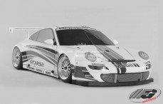 Porsche 911 GT3 RSR, Sports-Line 4WD-510, (Transparante Kap)