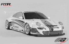 Porsche 911 GT3 RSR, Sports-Line 4WD-510 RTR, (Transparante Kap)