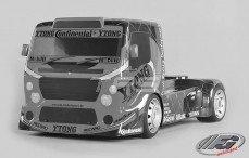 Kap, FG Team Truck 2WD, (W530-D2,0 mm, Transparant), Set