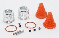 FID Snelkoppel systeem, (LOSI 5IVE & MINI WR), (Zilver aluminium), set