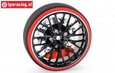 EBT6640B Aluminium Stuurwiel zwart Futaba, Set