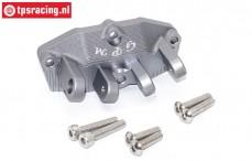 SB013B-GS Alu-Draagarm houder achter zilver SBR-SRR, 1 st.