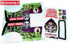 LOS240014/01 LMT Grave digger Stickers, Set