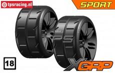 GWH02-XS1B GRP Sport 1/5 Extra Soft Ø120 mm, 2 st.