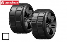 GWX02-M2 Banden GRP 1/5 M2, Soft, (Zwarte velg), 2 st.