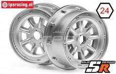 HPI115765 HPI Baja 5R Velg ML-8 Zilver, 2 st