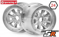 HPI115766 Velg ML-8 Zilver, 2 st