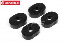 HPI86666 Tandwiel demping rubber, 4 st.