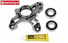 HPI86715 Koppeling klok houder HD, Gun Metal, Set