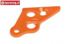 HPI87489 Motor steun plaat links Oranje, 1 st.