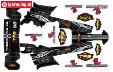TPSBAJA-G TPS Stickers HPI-Rovan Baja Gun-Metal, Set